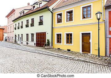 judío, cuarto, república checa, trebic