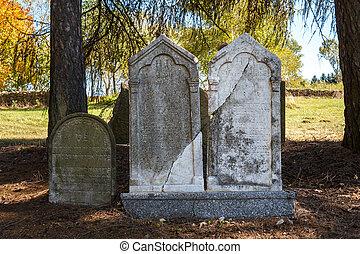 judío, extranjeros, cementerio, descuidado, olvidado