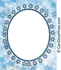 judío, marco de la foto, frontera, estrella