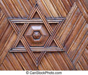 judío, -, símbolo, estrella, david