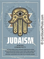 judaïsme, étoile, hamsa, religion, david, talisman