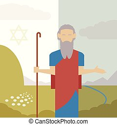 Judaism icon - Vector image of an icon of Moses