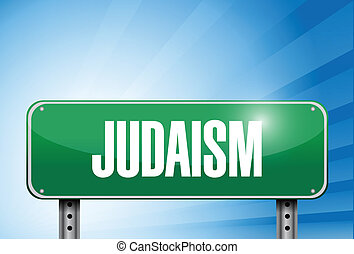 judaism religious road sign banner illustration