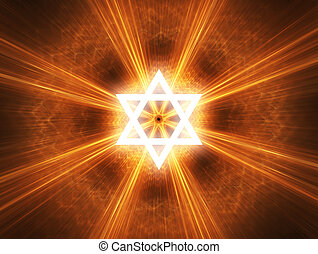 Star of David - Judaism religious symbol - Star of David.
