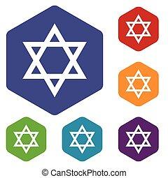 Judaism rhombus icons