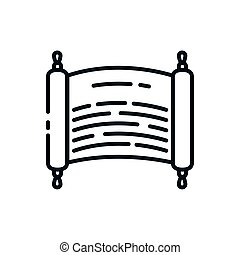 Judaism torah symbol vector design