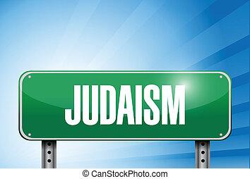 judaizm, pobożna ilustracja, znak, chorągiew, droga