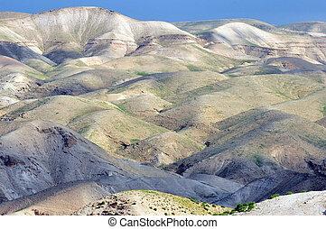 Judea Desert Israel - Landscape view of the Judea Desert,...