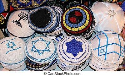 judeu, religiosas, bonés