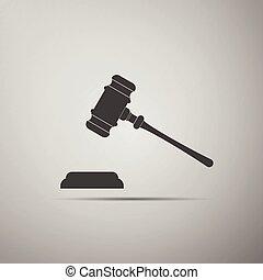 (judge, -, 競売人, 小槌, gavel)., 裁判官, ハンマー, ∥あるいは∥, アイコン