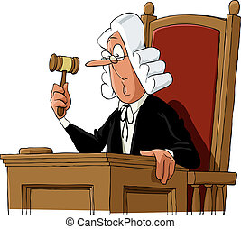 Judge - A judge on a white background, vector