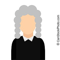 judge avatar isolated icon