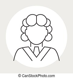 Judge avatar line icon