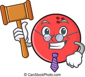 Judge bowling ball character cartoon