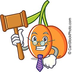 Judge buckthorn mascot cartoon style