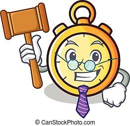 Judge chronometer character cartoon style vector...