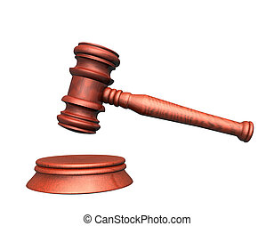 Judge - 3d illustration looks mallet of judge.