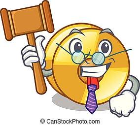 Judge cyamblas miniature in the cartoon shape