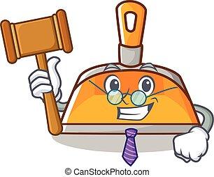 Judge dustpan character cartoon style