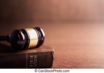 judge gavel and holy bible