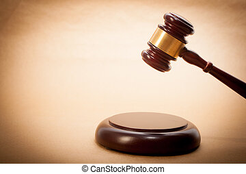 Judge Gavel and Soundboard - A wooden gavel and soundboard ...