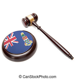 Judge gavel and soundboard with national flag on it - Cayman...