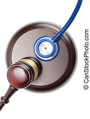 Judge gavel and stethoscope