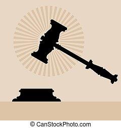 Judge Gavel Anvil Icon