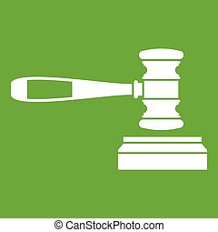 Judge gavel icon green