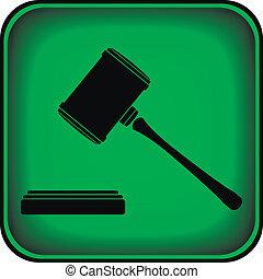 Judge gavel icon