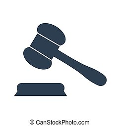 Judge gavel Icon Vector. - Judge gavel Icon on white...