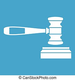 Judge gavel icon white