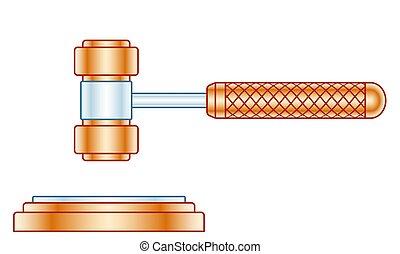 Judge gavel illustration