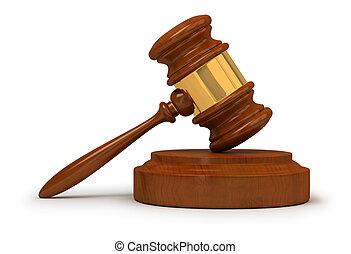 judge gavel - Judge gavel . 3d image. Isolated white...