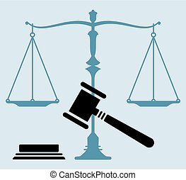 Judge Gavel Scales Of Justice Icon