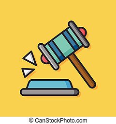 judge gavel vector icon