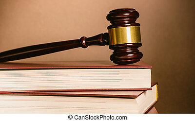 judge gavel with books
