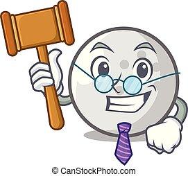Judge golf ball mascot cartoon