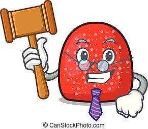 Judge gumdrop mascot cartoon style vector illustration