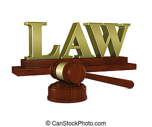 """judge hammer and """"law"""" nameplate"""
