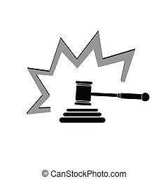 judge hammer illustration
