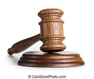 Judge hammer - Judge gavel isolated on white background