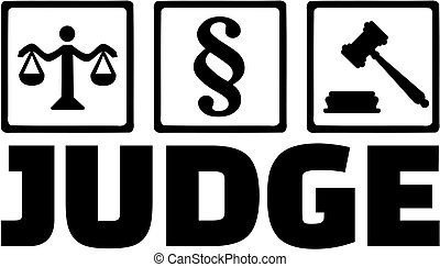Judge icons scale paragraph and gavel