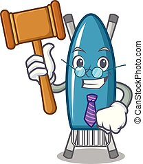 Judge iron board mascot cartoon