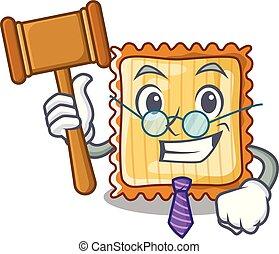 Judge lasagna is served in cartoon plates