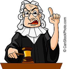 Judge makes verdict - Judge with gavel makes verdict for law...