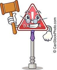 Judge miniature danger in shape of mascot