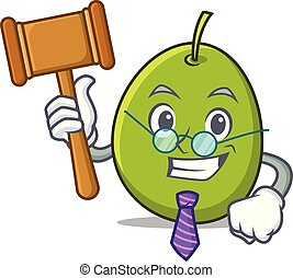 Judge olive mascot cartoon style