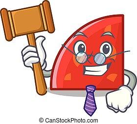 Judge quadrant mascot cartoon style vector illustration