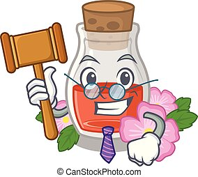 Judge rosehip seed oil on a mascot